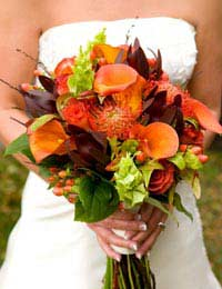 Autumn winter weddings venues leaves