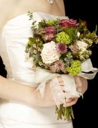 Bride bridal bouquet wedding flowers
