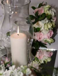 Wedding table centrepieces flowers