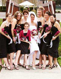 Wedding bridesmaids maid honour